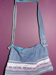 Pattern Denim Skirt Handbag