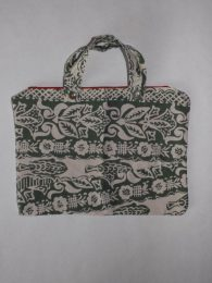 Green Floral Hand and Makeup Bag Set 1