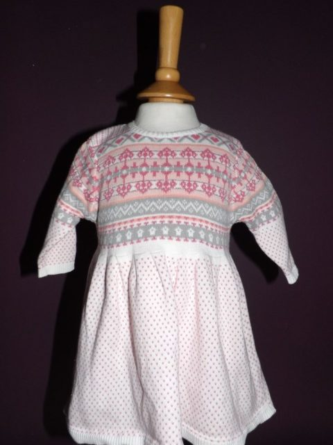 Next - Pink Aztec Dress (0-3 Months)