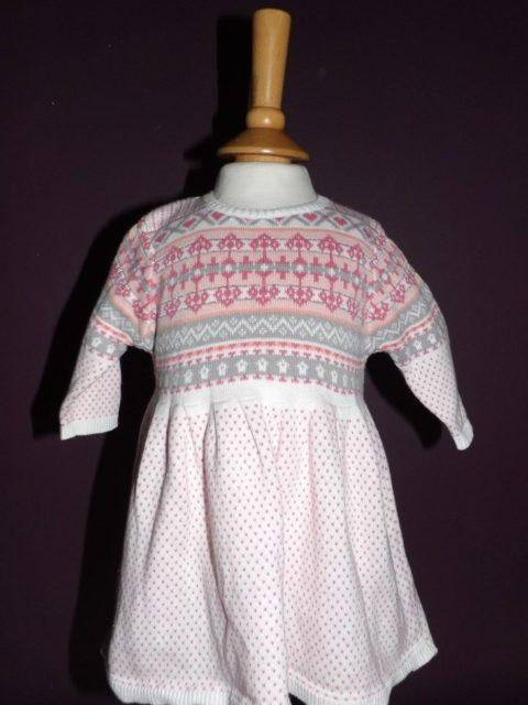Next - Pink Aztec Dress (0-3 Months)