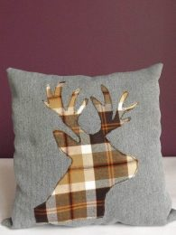 Personalised Stag Cushion