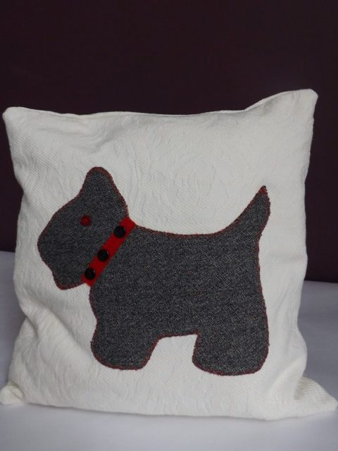 Personalised Terrier Cushion